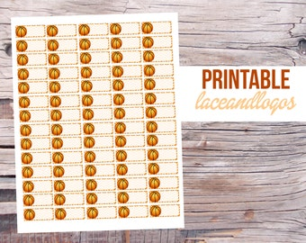 Printable Planner Stickers Basketball Labels   Happy Planner Glam Planning  Vertical Horizontal Sports Bracket BballFor Erin CondrenPlanner