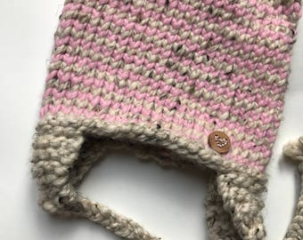 Kitty Ear Hat / Baby Girl Gift / Baby Beanie / Winter Hat / Baby Shower Gift
