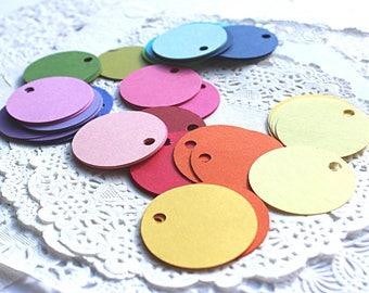 Circular Die Cuts, Circular Tags, Scrapbook Tags, Scrapbook Embellishments, Cardstock Tags