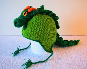 There's a dragon on my hat - premium crochet dragon hat with dragon head and scales - birthday gift ideas for dragon fans
