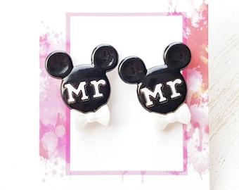 Mickey mouse cufflinks disney cufflinks disney wedding Disney Wedding cufflinks disney groom mickey mouse wedding mickey mouse Mr cufflinks