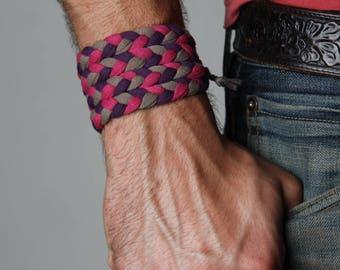 Braided Bracelet, Wrap Bracelet, Boyfriend Gift, Gift for Men, Festival Clothing, Mens Bracelet, Gift for Boyfriend, Gift for Husband, Mens