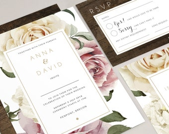 Anna wedding invitation collection