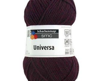 Pincushion 50g Burgundy dark purple wool and acrylic Universa