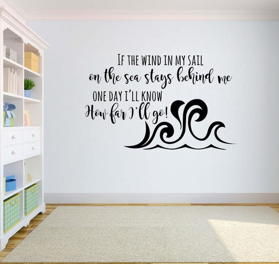 sc 1 st  Etsy & Disney Vinyl Wall Word Decal If the Wind In My Sail On Sea