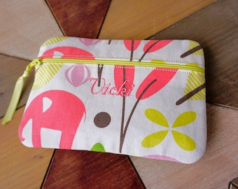 Custom Carry Bag, Monogrammed Clutch Bag In The Fabric/Color You Want! Monogrammed makeup bag, Make Up Bag, Cosmetic Bag, Personalized Bag
