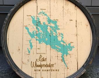 Lake Winnipesaukee, NH Map Barrel End