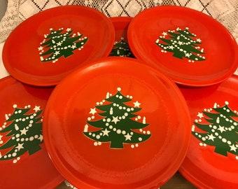 6 Waechtersbach Christmas Tree Dinner Plates Xmas Tree Red Plates Germany  sc 1 st  Etsy & Christmas tree plate | Etsy