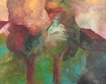 Fine art, Landscape, Tree, Forrest, Country, Original painting, Contemporary art, Figurative, Trees #2