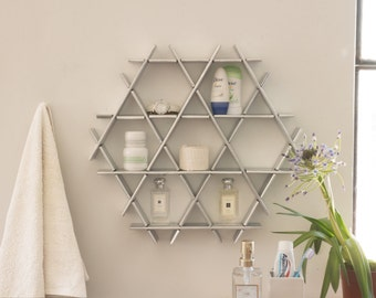 Bathroom Storage, Bathroom Shelf, Bathroom Organizer, Modern Shelves, Toilet  Paper Storage,