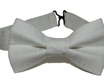 Bow Tie - White with Cross Bowtie