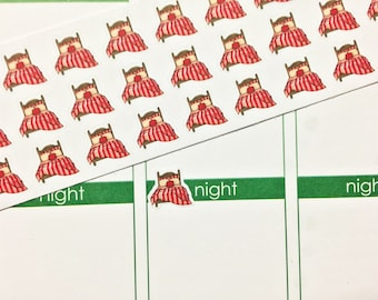 30 Bed Chore Stickers! Perfect for your Erin Condren Life Planner, Filofax, Kikkik, Plum Paper and other planner!