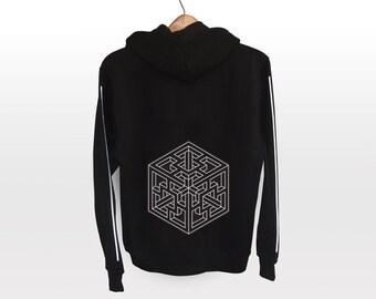 Hollow Cube Jacket - light reflective silver print | Geometrical Pattern