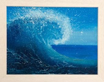 Breaking Wave Oil Painting