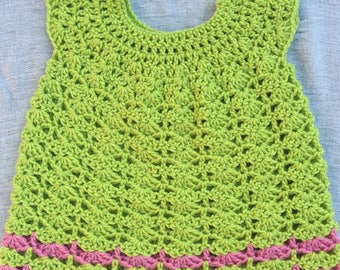 Lime Punch crcohet dress