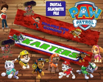 Paw Patrol Snicker Wrapper (includes fonts used)