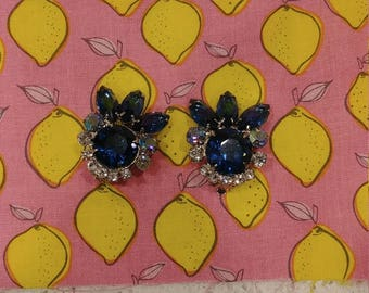 Vintage Juliana (DeLizza & Elster) Blue Earrings