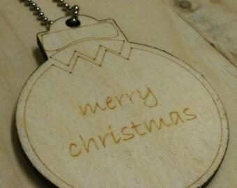 Christmas Pudding Laser Cut Decoration