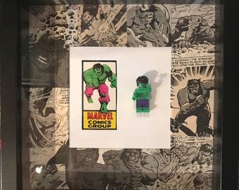 Retro hulk lego frame