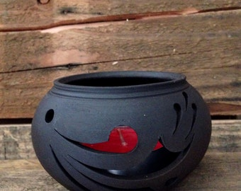 Hand Crafted Ceramic Candle Holder