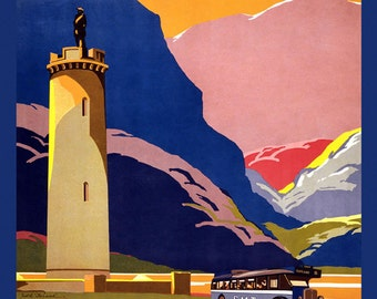 Scotland Landscape European Travel Tourism Vintage Poster Repro FREE SHIPPING