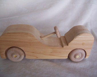 Kids Toy Car Handcrafted from Upcyled Wood