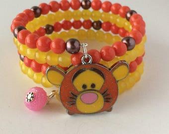 Tigger Bracelet, Tigger Tsum Tsum Bracelet, Disney Bracelet, Tsum Tsum Bracelet, Winnie The Pooh Bracelet, Adult Tigger Bracelet, Tigger