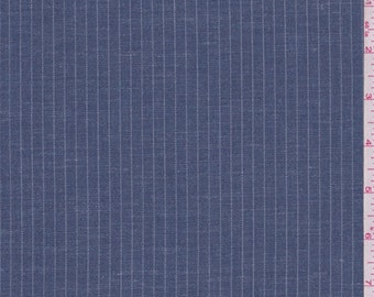 Wedgewood Blue Pinstripe Suiting, Fabric By The Yard