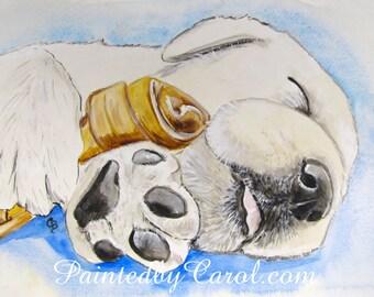 Yellow Labrador Retriever Print, Yellow Lab Print, Yellow Lab Art, Yellow Lab Painting, Yellow Lab Gifts, Yellow Lab Home Decor