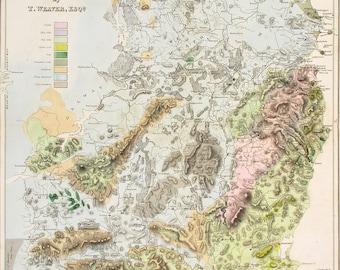 Vintage dublin map Etsy
