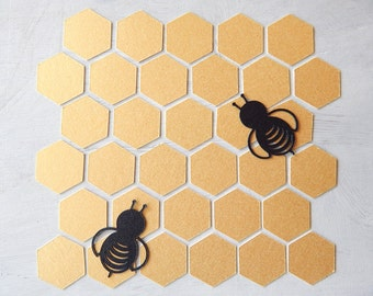 Bee Confetti Bee-fetti Confetti (Gold and Black) 1 Inch - Party Decor - Scrapbooking - Baby Shower - Table Scatter