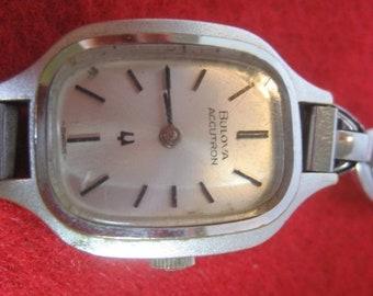 ON SALE Vintage BULOVA Accutron Ladies Tuning Fork Wrist Watch