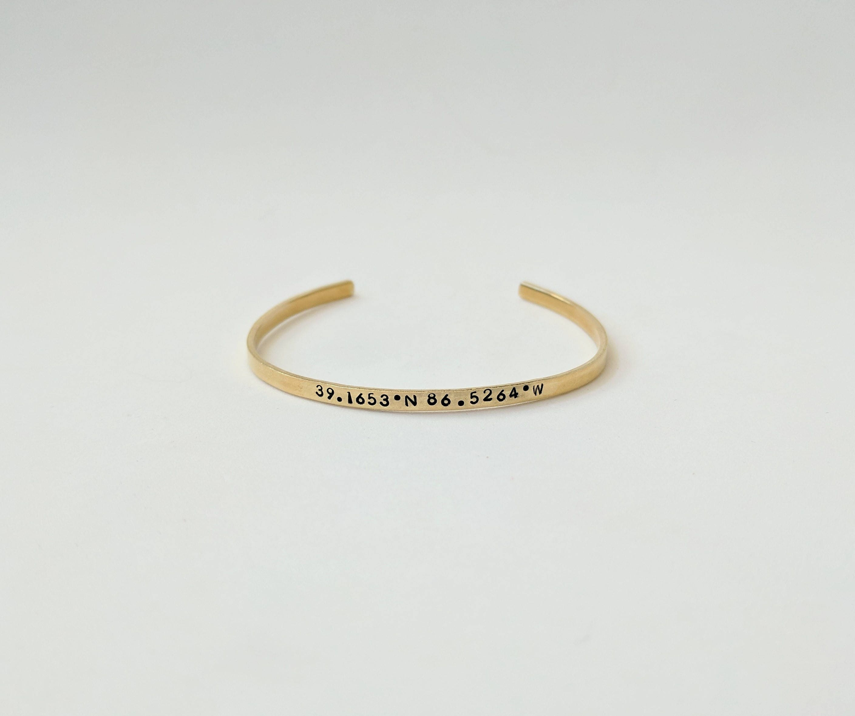 york products brook thin bangle gold coordinate bracelet