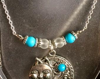 Sun-Moon Pendant , Necklace