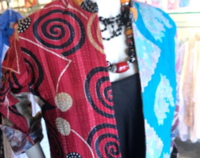 Reversible super colorful artist kantha coat