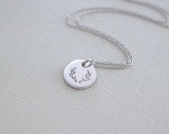 Antler Necklace - Deer Antler Charm Necklace