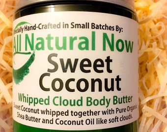 Sweet Coconut Whipped Body Butter | Pure & Organic |