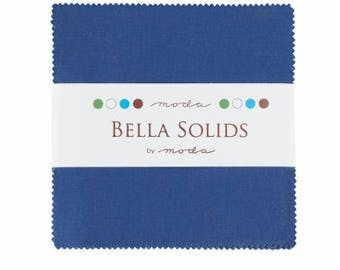 Charm Pack-5 inch squares-Moda-Blue Solid