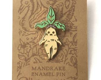 Mandrake Cloisonné Enamel Pin