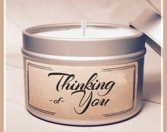 Thinking of You Candle - Cheer Up Gift | Get Well Gift | Miss You Gift | Condolence Gift | Send a Gift | Think of You Gift | Greeting Candle
