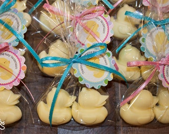40 Rubber Duckie Soaps (20 Favors), Shower Favors, Reveal Party Favors, Duck Soaps, Pink & Blue Duckies