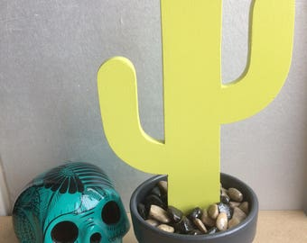 Cactus pot colors customizable!