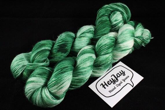Hand Dyed Sock Yarn High Twist Superwash Merino/Nylon - Moss