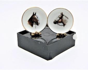 Dollhouse Miniature Horses Display Plates (2),  Display Stock #H01NOS