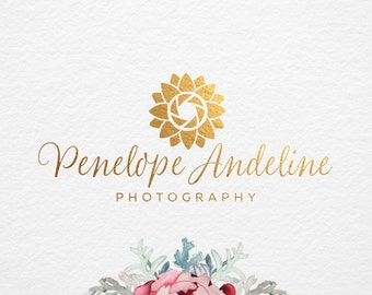 Elegant Flower Premade logo , Photography logo and Watermark