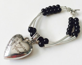 With All My Heart Bracelet.