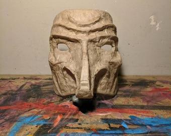Paper Mache Mask Sculpture - Raw Finish