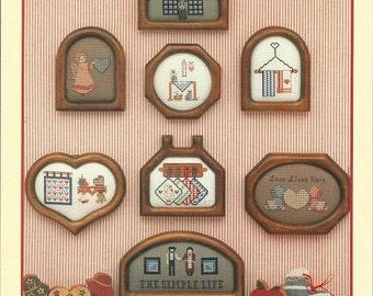 "Vintage Cross Stitch Cupboard ""County Little Bits""  Cross Stitch Leaflet"