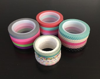 """CLEARANCE! 18"""" SAMPLES of Skinny washi tape (SK02)"""
