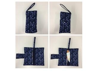 Nappy Wallet - Blue Pattern